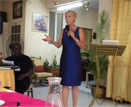 John Maxwell A Day of Leadership guest speaker Marie-Lucie Spoke hosted by Mount Zion's Missions Inc Barbados Foursquare Church