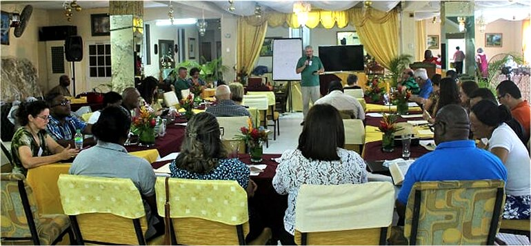 Mount Zion's Missions Inc Barbados Foursquare Church hosts Foursquare Regional Training with Caribbean Foursquare Missionary Rev Dave Stone