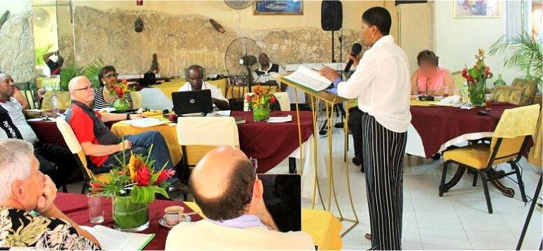 Professor Gary Matsdorf visits Mount Zion's Missions Inc Barbados Foursquare Church hosts Foursquare Regional Training day 3
