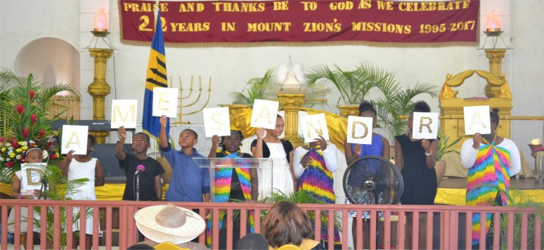 Governor General of Barbados Madame Justice Dame Sandra Prunella Mason at Mount Zions Mission