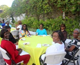 Ruth and Esther Women's Ministry tea with Madame Justice Sandra Prunella Mason QC new Governor General of Barbados