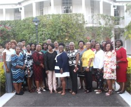 Ruth and Esther Women's Ministry visti Government House with Madame Justice Sandra Prunella Mason QC new Governor General of Barbados