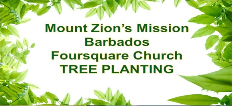 Mount Zion's Missions Inc Barbados Foursquare Church tree planting Super Fruits