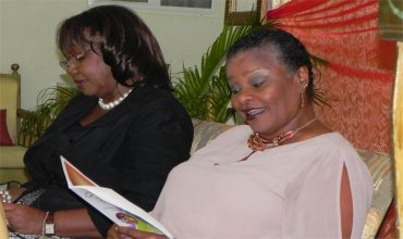Madame Justice Sandra Prunella Mason with Apostle Lucille Baird