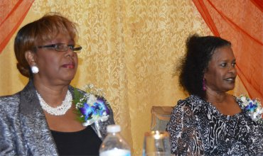 Madame Justice Sandra Prunella Mason with Apostle Lucille Baird at the Ruth and Ester Launch in 2015